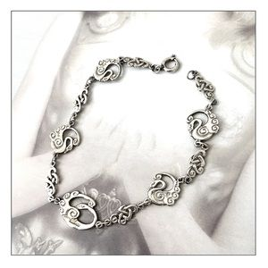 VTG Sterling Silver 'Children Of Lir' Bracelet